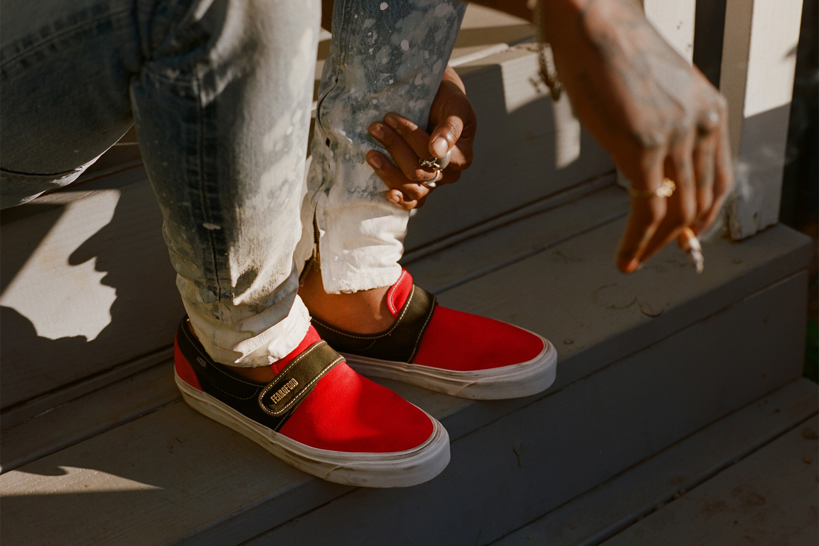 b77bb22f59 Exclusive Vans Fear of God FOG f.o.g. Collection Jerry Lorenzo Footwear  sneakers shoes red white black