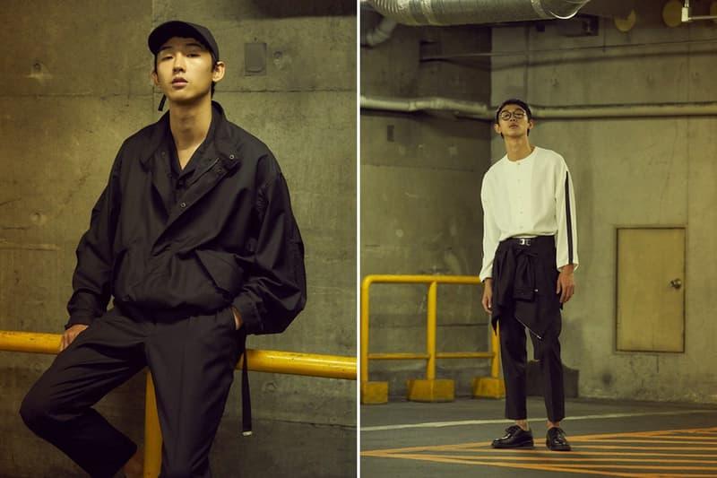 VICTIM 2018 Spring/Summer Lookbook Japan Stretwear Casualwear Blazer Anorak Hoodie Shoelace Belt Culotte Workshirt Knit Graphic T-shirt Denim Jacket Gown Cardigan Beanie