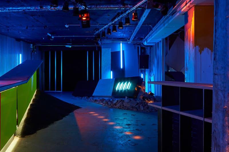 Virgil Abloh Off-White Ben Kelly Nightclub Installation New Order Hacienda Manchester The Vinyl Factory The Store Ruin