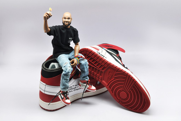 best service 7b978 bc992 Theres Now a Toy Figure of Virgil Abloh  His Popular Jordan 1 Shoe