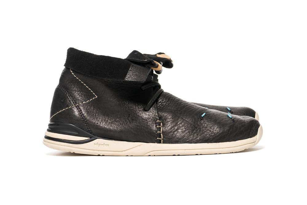 visvim Huron Moc Hi Folk Red Deer Black 2017 November Release Date Info Shoes Footwear HAVEN handmade bead paint stitch Vibram