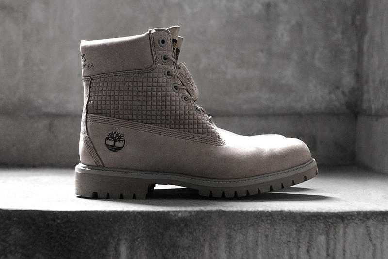 WTAPS Timberland Premium 6 Inch Boot 2017 Fall Winter November 25 Release Date Info Japan Collaboration Grey Honeycomb Coordinates Branding Leather Hangtag Nubuck Waterproof Tonal