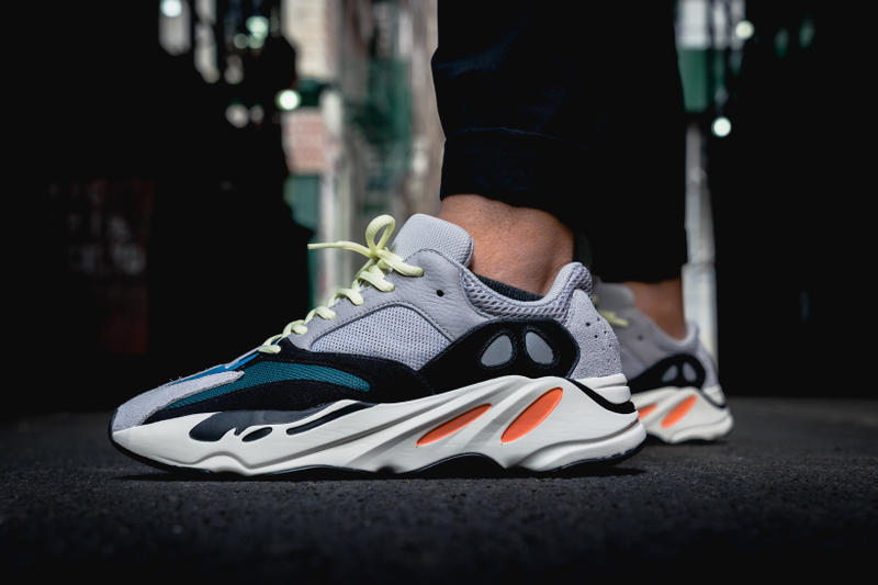 meet 28280 2fd38 adidas YEEZY BOOST 700 On Feet Closer Look Wave Runner Kanye West Kim  Kardashian footwear