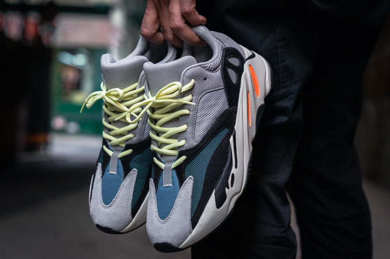 adidas YEEZY BOOST 700 On Feet Closer Look Wave Runner Kanye West Kim Kardashian footwear