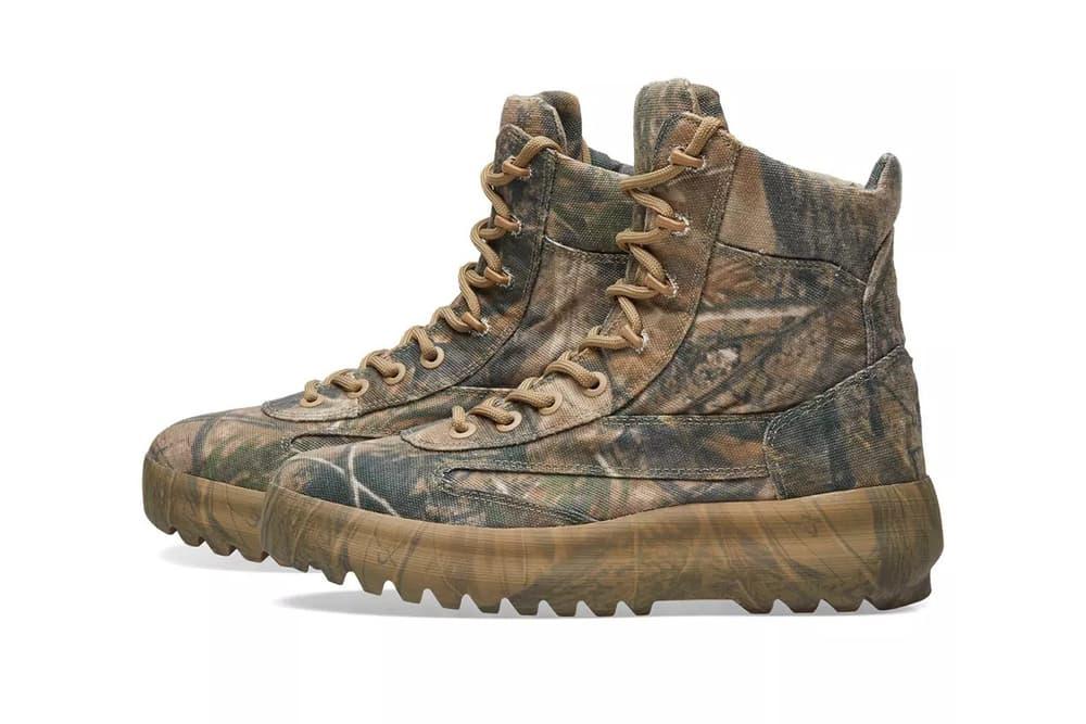 YEEZY Season 5 Military Boot Camo Camouflage Kanye West Footwear Release Info Drops