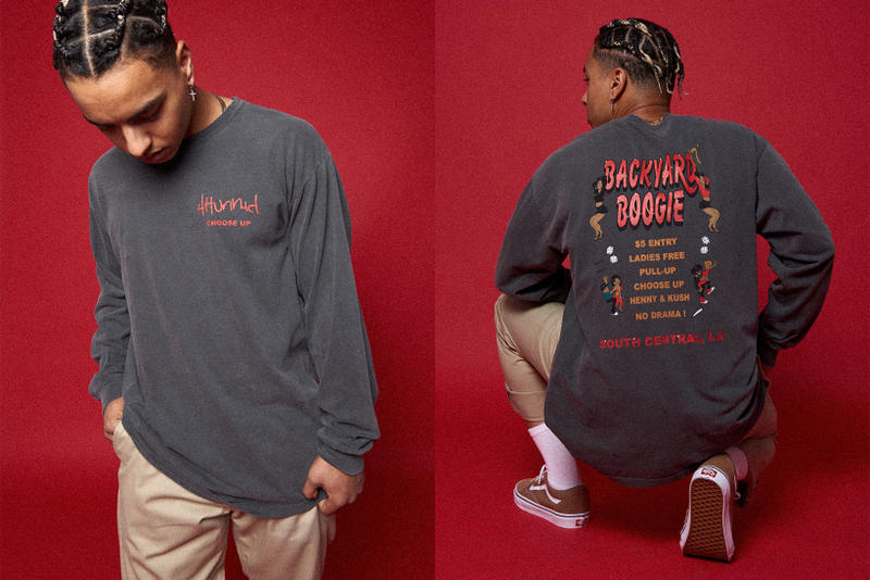 YG 4Hunnid Fall Winter 2017 Collection Lookbook November 24 Black Friday Release Date Info Members Only Graphic Embroidery Red Washed Loose Chino Flyer artwork Compton