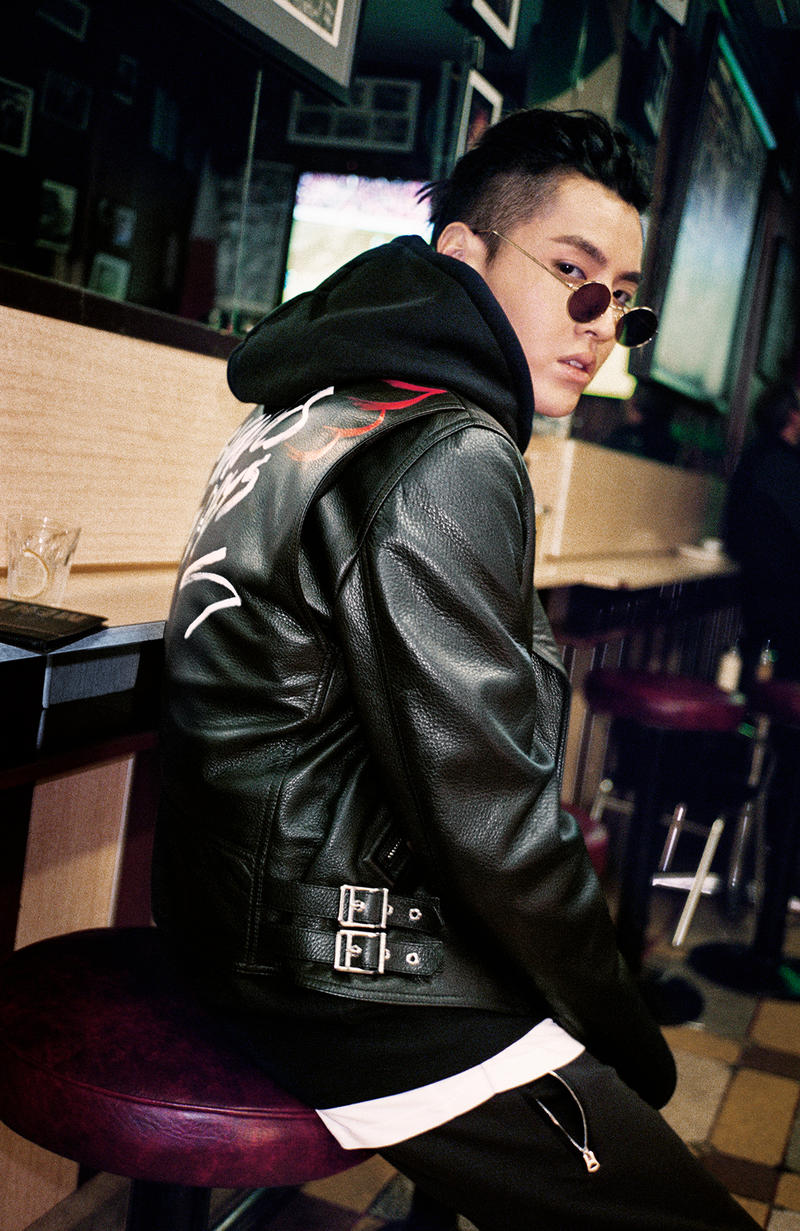 Kris Wu & Burberry Reveal Winter Collection 2017 Chinese-canadian actor singer hip hop British fashion spring summer winter collection tartan checkered classic print hat motorcycle leather jacket biker jacket trench coat oversized streetwear