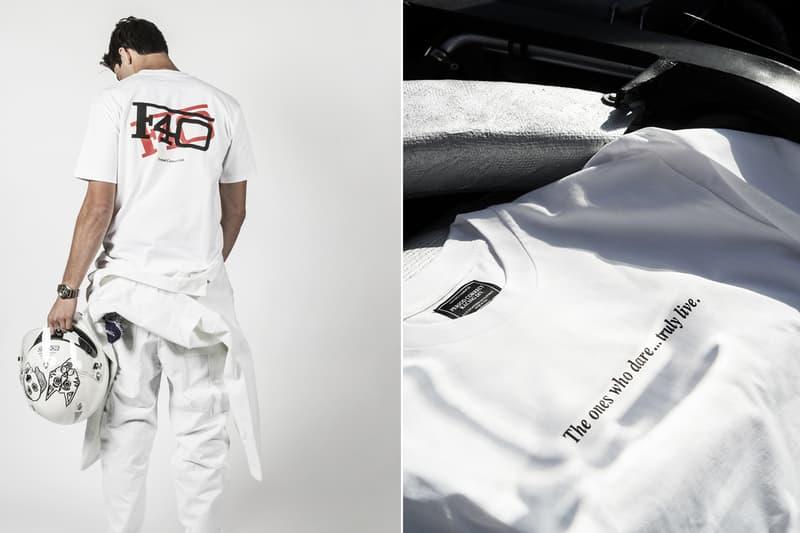 Period Correct Drops Ferrari Maranello Capsule Collection F40 F458 Ferrari Enzo Atelier Boutique Holiday gift guide menswear mens shirts t-shirts pullover fleece hoodie scuderia laferrari formula 1