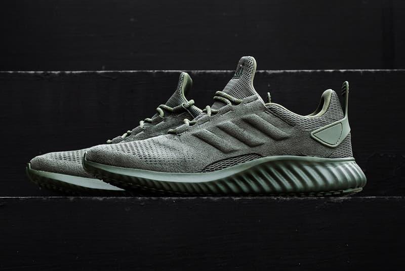 adidas AlphaBOUNCE CR Base Green Suede Three Stripes