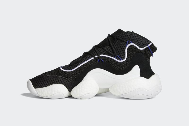 quality design b2d00 1db38 adidas Crazy BYW LVL 1 Closer Look Black White 2017 2018 Release Date Info  Sneakers Shoes