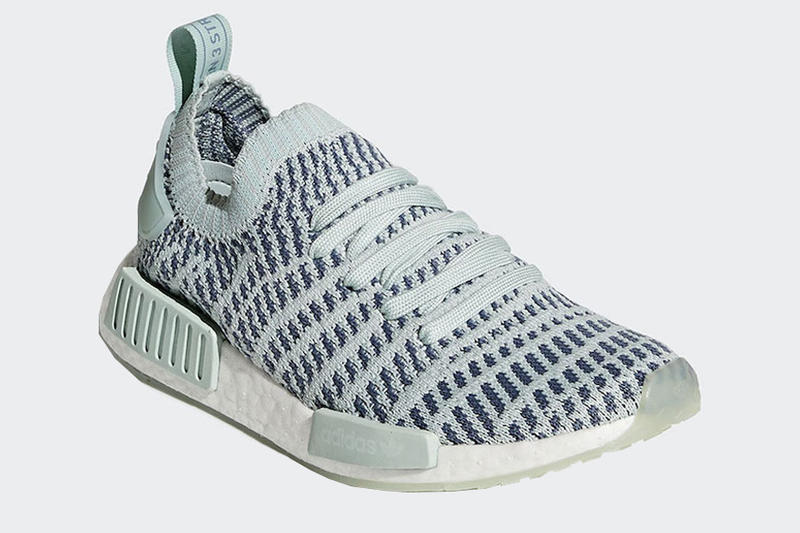 Adidas NMD R1 Primeknit STLT Ash Green Release Date January 2018 Sneakers Shoes Footwear