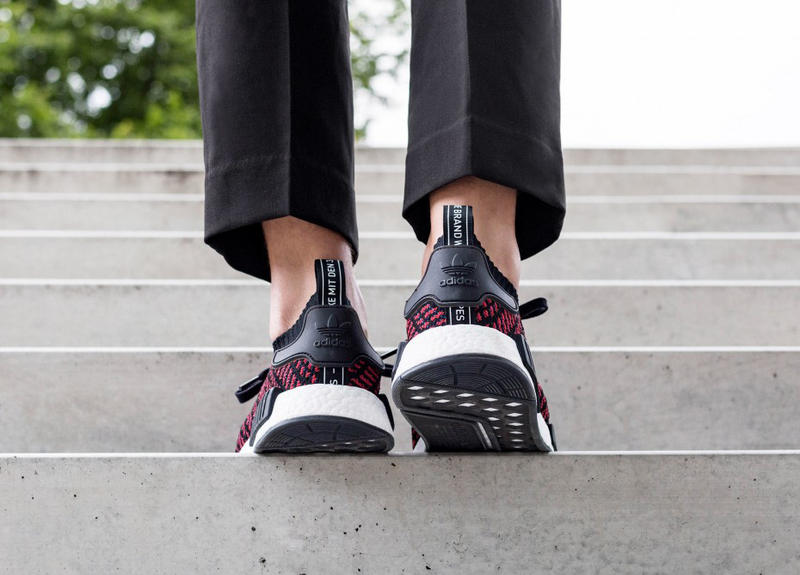 pretty nice 79cf0 458c1 On-Feet Look adidas NMD R1 STLT Core Black/Red | HYPEBEAST