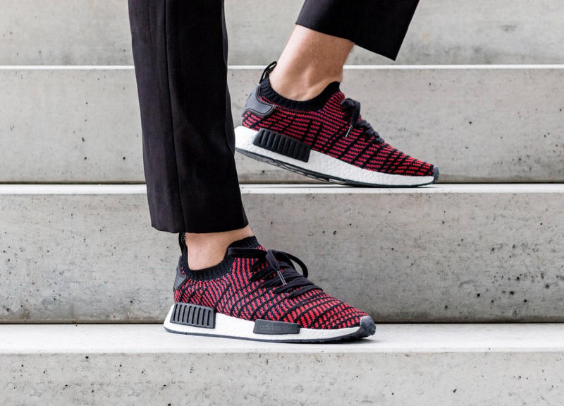 pretty nice 73dce 28f30 On-Feet Look adidas NMD R1 STLT Core Black/Red | HYPEBEAST