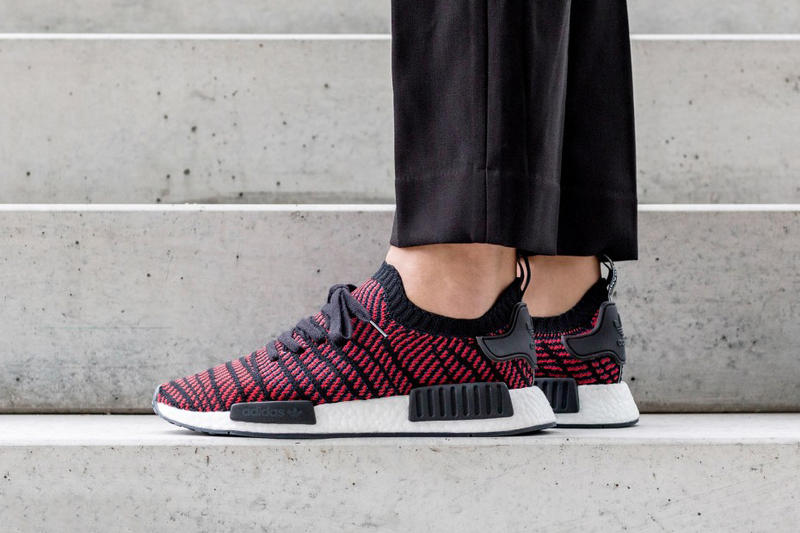 d748335a7 adidas Originals NMD R1 STLT Black Red December 22 2017 Release Date. 1 of 3