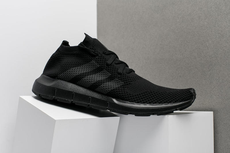 adidas Swift Run Primeknit Triple Black 2017 December 6 Release Date Info Sneakers Shoes Footwear Oneness