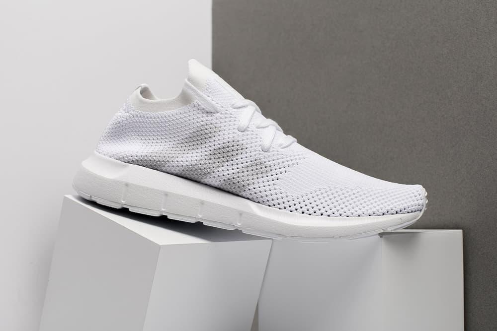adidas Swift Run Primeknit Triple White 2017 December Release Date Info Sneakers Shoes Footwear Oneness