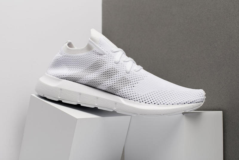 adidas Swift Run Primeknit Triple White 2017 December Release Date Info Sneakers Shoes Footwear Oneness