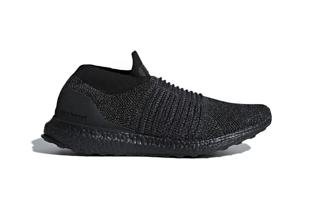 """adidas UltraBOOST Laceless """"Triple Black"""" 2018 January Release Date Drop Info Sneaker Shoe"""