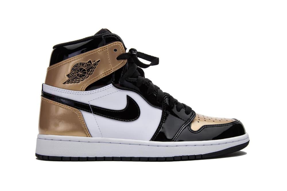 Air Jordan 1 Retro High OG White Black Gold 2018 January 15 Release Date Info Sneakers Shoes Footwear