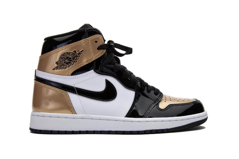 Air Jordan 1 Retro High OG White Black Gold 2018 January 15 Release Date Info Sneakers Shoes Footwear