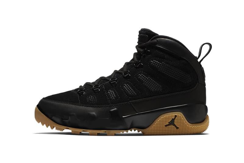 Air Jordan 9 Boot NRG Black Gum Light Brown 2017 December 6 Release Date Info Sneakers Shoes Footwear