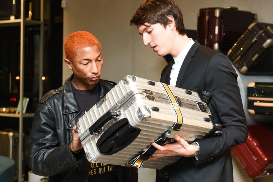 Alexandre Arnault RIMOWA Relevance Luggage LVMH Pop Up Los Angeles Pharrell Williams