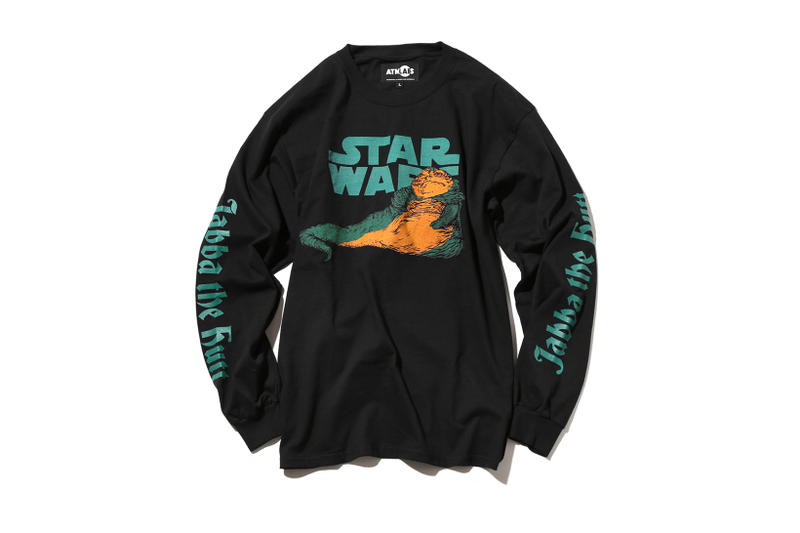 atmos LAB Star Wars Jabba The Hutt Long Sleeve T Shirts Tee Black White 2017 December Release Date Info