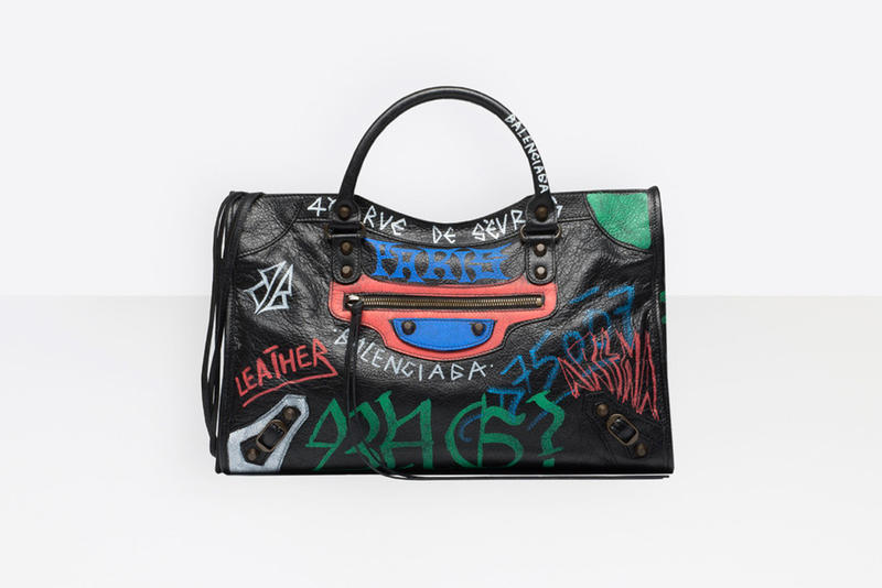 "Balenciaga ""Graffiti"" Luggage Wallets Bags IKEA Demna Gvasalia Fashion Week Paris Grunge"