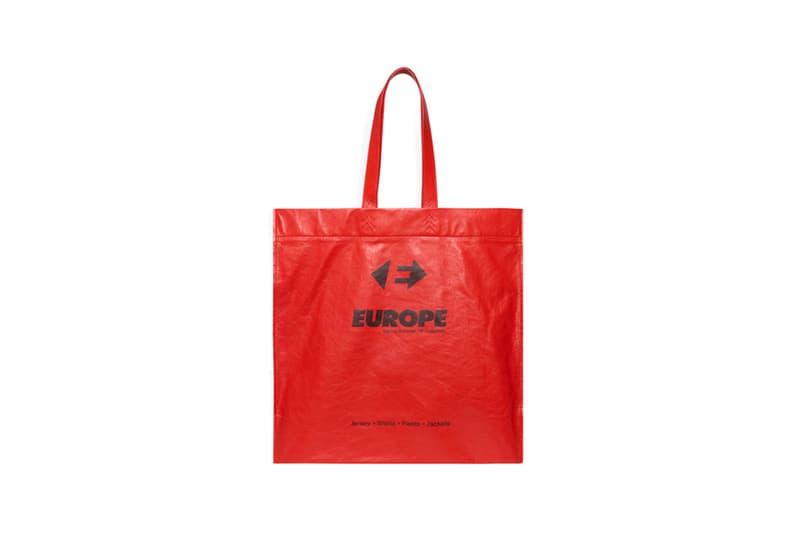 Balenciaga Demna Gvasalia Supermarket Shopper Plastic Bags Lambskin Leather