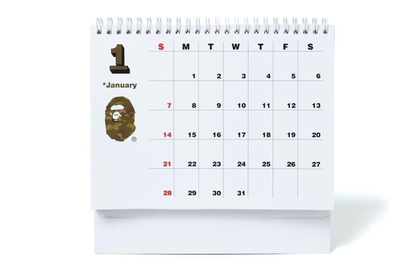 BAPE A Bathing Ape Red Lucky pockets ape head calendar 2018