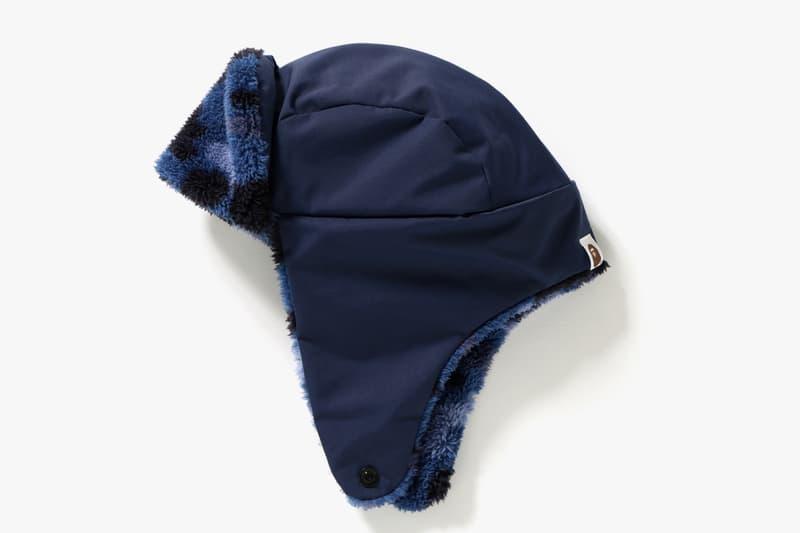 BAPE A Bathing Ape Color Camo boa flight cap red blue hat