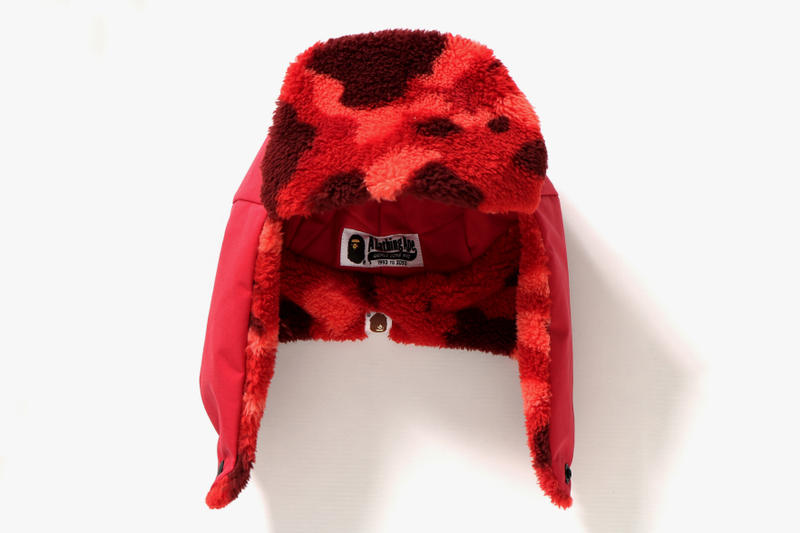 c9900f64c1829 BAPE A Bathing Ape Color Camo boa flight cap red blue hat