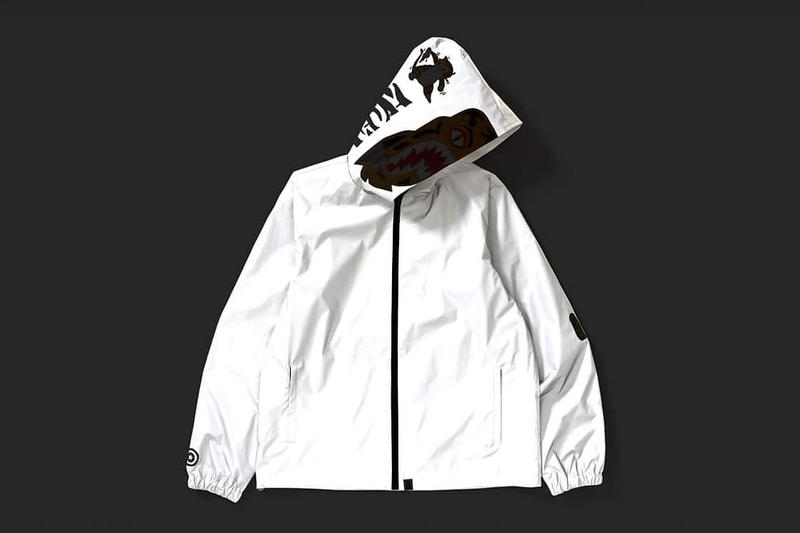 BAPE Tiger Shark Reflector Hoodie Jacket Hong Kong Store December 2017