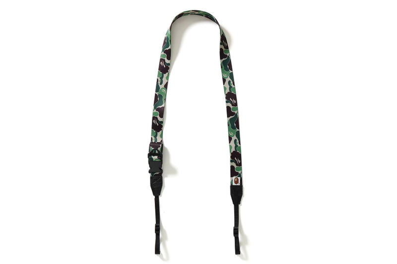 bape abc camera wide strap camo camouflage blue green brown pink red