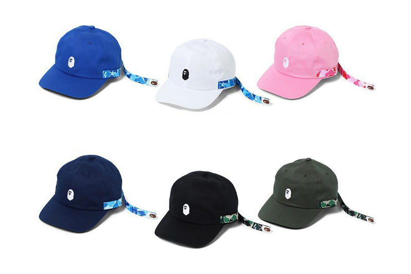 BAPE ABC Long Tape Panel Cap A Bathing Ape 2017 December 16 Release Date Info Drops Blue White Pink Navy Black Olive