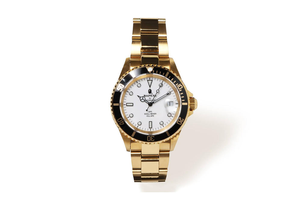 BAPE BAPEX Type 1 Watch Gold Colorway Sapphire Crystal Black Colorway Silver Colorway
