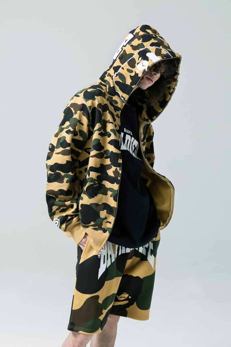 BAPE Spring/Summer 2018 Collection Lookbook BAPE Camouflage Shark Streetwear
