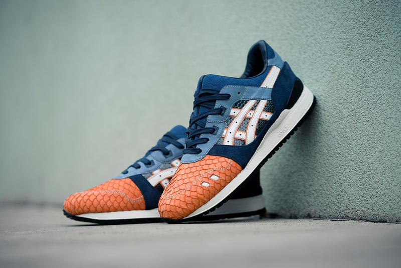 Asics GEL-Lyte III Salmon Toe BespokeIND Custom Sneakers Shoes Footwear