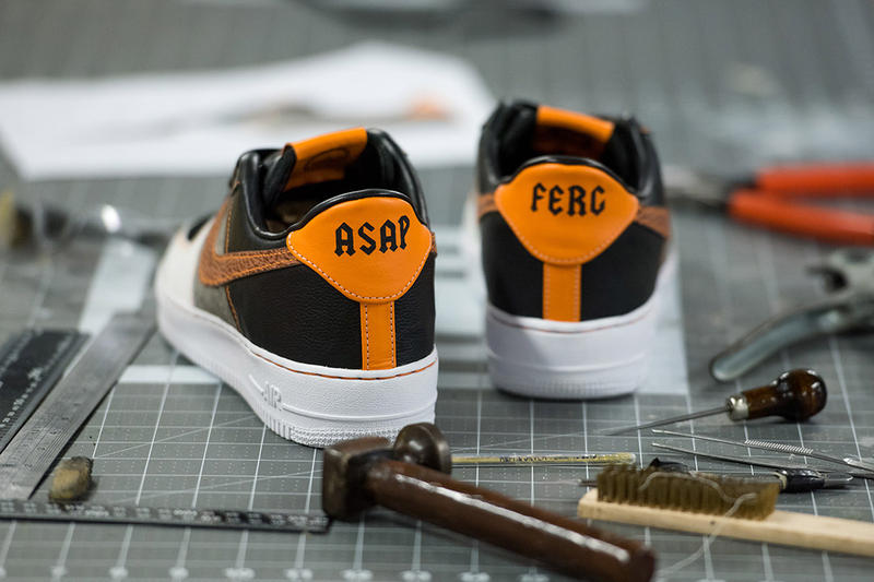 BespokeIND Nike Air Force 1 ASAP Ferg black white orange grey footwear low trap lord low