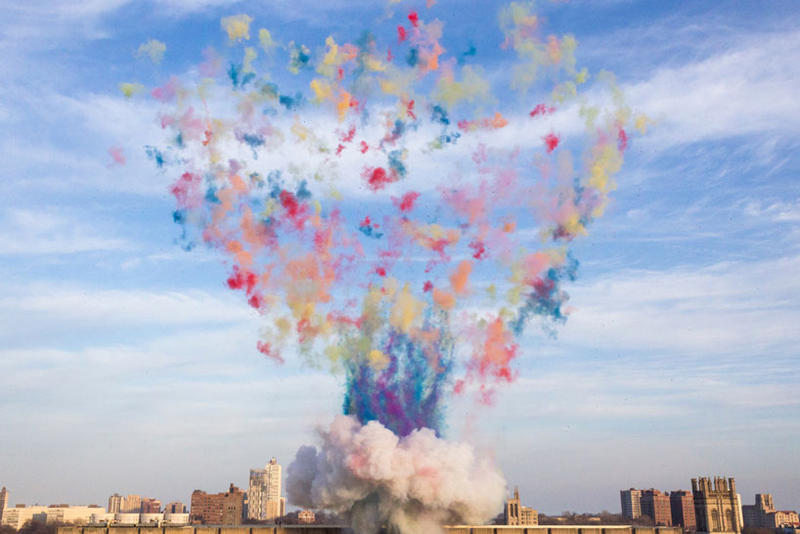 Cai Guo Qiang Explodes Colorful Mushroom Cloud Chicago 75th Anniversary Nuclear University of Chicago