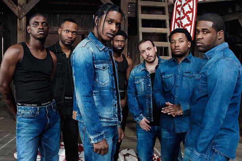 ASAP A$AP Rocky Calvin Klein Underwear Jeans mycalvins Campaign Ferg Twelvyy Ant J Scott Nast Lou 2017 December 4 ad Raf Simons Fall Winter