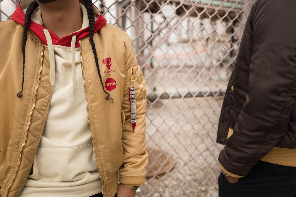 EEPMON RIME Alpha Industries Jungle Out There MA 1 Slim Fit Flight Jacket
