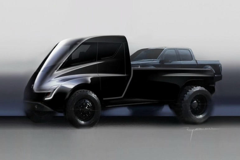 Elon Musk Tesla Pickup Model Y Ford F-150 Details Tease