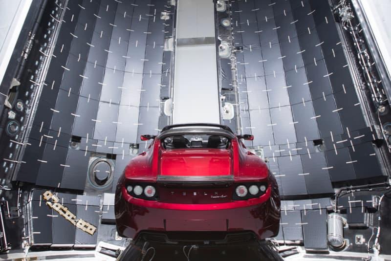 Elon Musk Tesla Roadster SpaceX Mars Photo