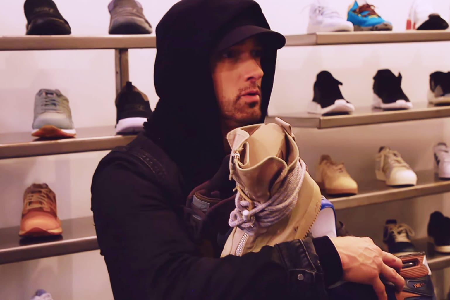 Eminem Goes Sneaker Shopping at Burn