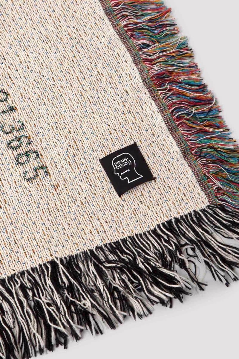Garbstore Coverture Brain Dead Artist Blankets Collaboration Limited Edition In-store Claire Hungerford Jason Wright Eri Wakiyama Daniel Freedman Decade 10 year anniversary woven throw digital