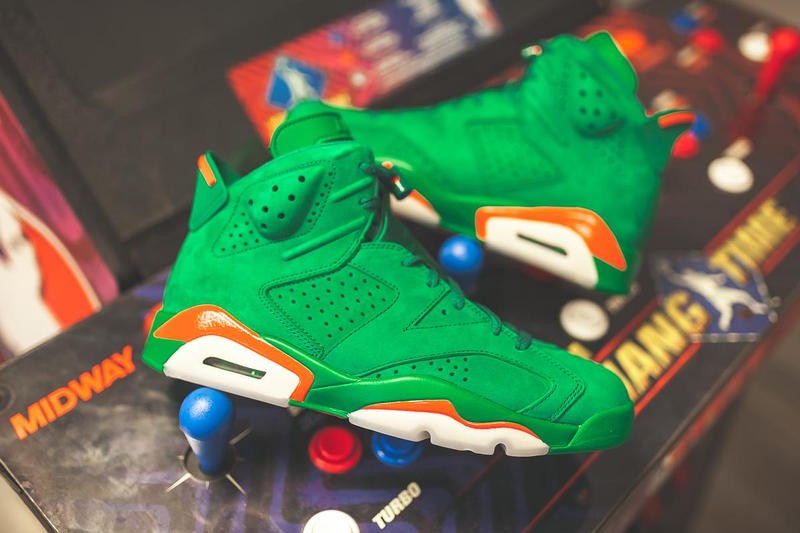 e358ea3c321 Gatorade Air Jordan 6 Pine Green Orange Blaze 2017 December 30 Release Date  Info Sneakers Shoes