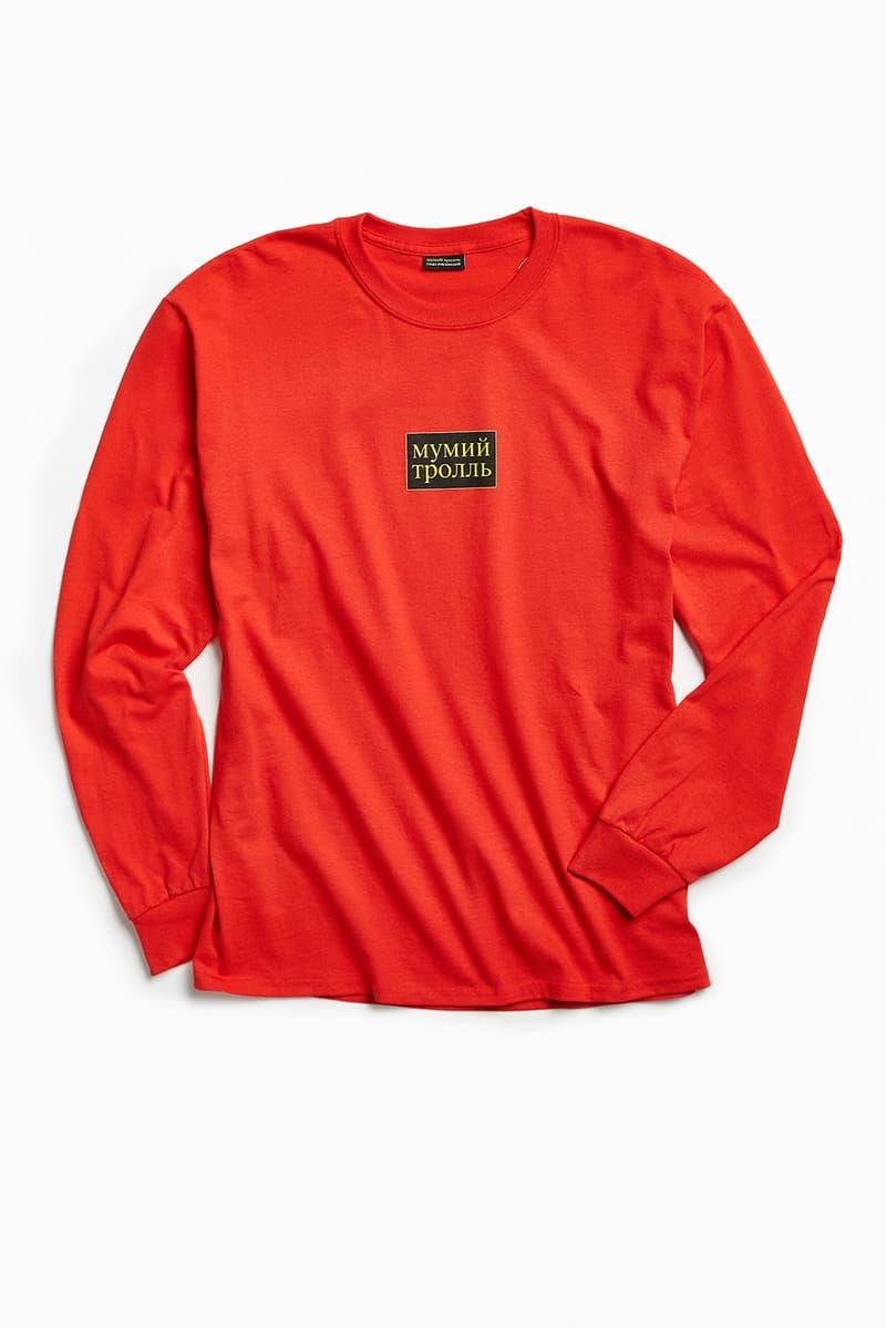 4dd99d72b3 Gosha Rubchinskiy Mumiy Troll Urban Outfitters Collaboration Russia Capsule  Collection T Shirt short long sleeve hoodies