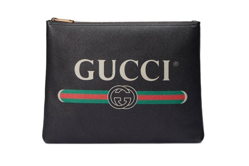 Gucci 2017 2018 Mens Leather Print Bag Backpack Portfolio
