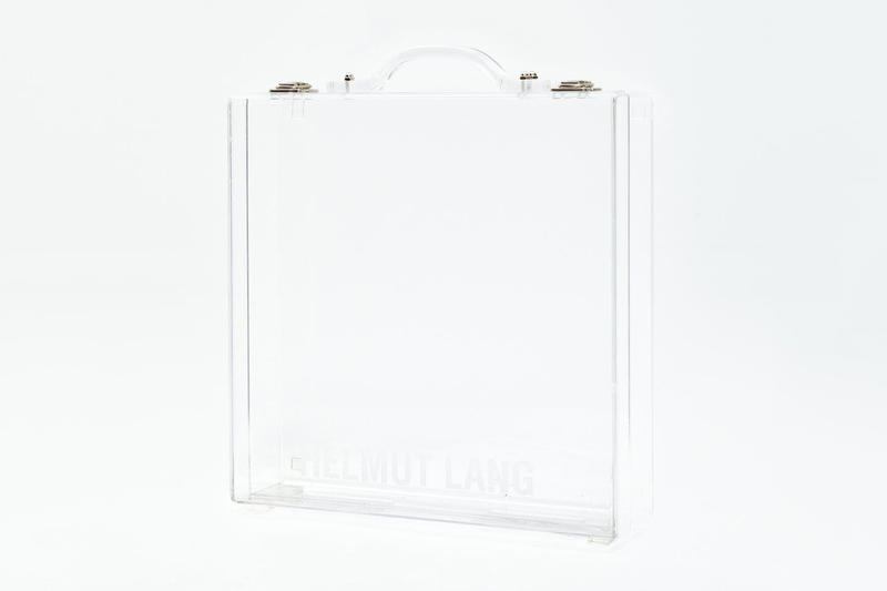 Helmut Lang Releases Lucite Briefcase transparent translucent clear see through